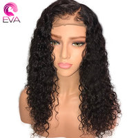 ЕВА вьющиеся волосы Full Lace натуральные волосы парики с ребенком волосы бесклеевого парики предварительно сорвал отбеленные узлы бразильско