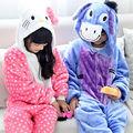 Super Soft Children Cartoon Flannel Animal Onesie Pyjamas Hooded Long Sleeve Winter Pijamas Home Clothes Donkey Cat Sleepwear