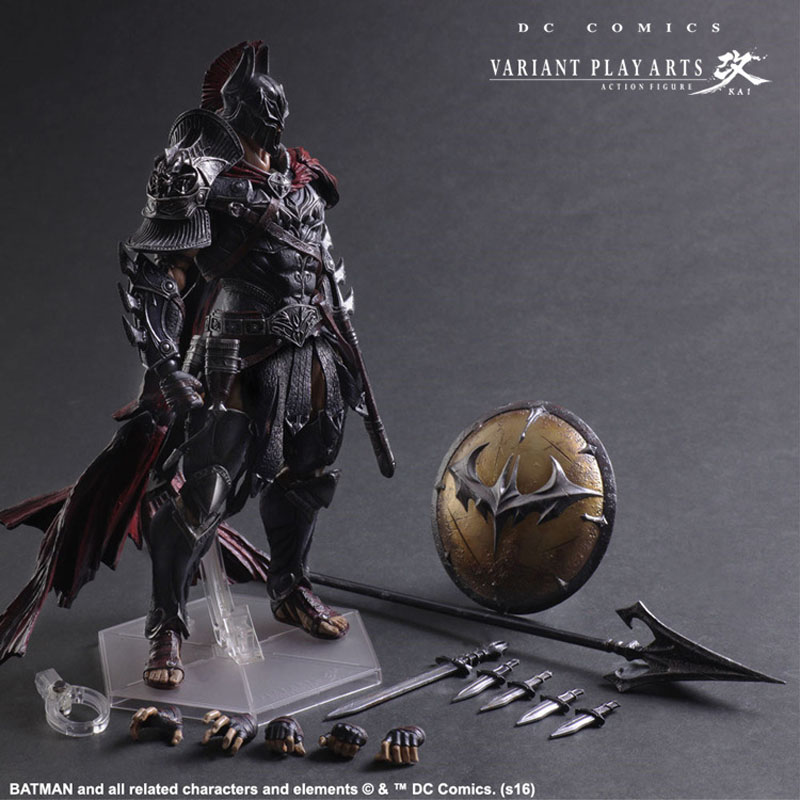 PA Change DC Comic Variant Series PA Change Spartan Warrior Batman Action Figure Collection Car Decoration Kids Toy Gift halloween toy gift timeless sparta action figure collection 27cm pa spartan model doll movable decorations