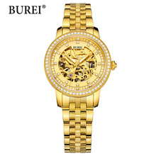 Reloj Mujer 2017 Luxury Womens Wristwatch Gold Automatic Mechanical Watch Fashion Ladies Watch Luxury Clock Women Montre Femme
