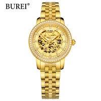 Reloj Mujer 2017 Luxury Womens Wristwatch Gold Automatic Mechanical Watch Fashion Ladies Watch Luxury Clock Women Montre Femme
