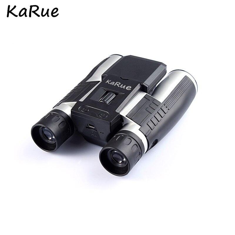 Karue Professionnel 12x32 HD Télescope Binoculaire numérique caméra 5 MP appareil photo numérique 2.0 ''TFT hd 1080 p caméra télescope