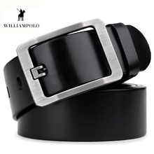 Williampolo 2019 High Quality Genuine Leather Men Fashion Belt 100% Cowhide Belets Casual Pin Buckle Wasitband PL019P