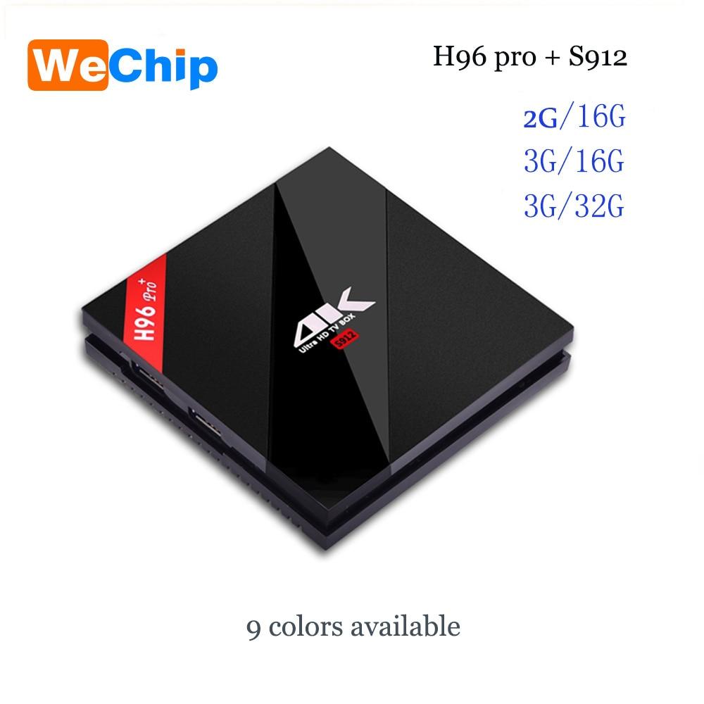 H96 Pro Plus Android 7 1 TV Box Amlogic S912 Octa Core 3G 32G Marshmallow 2