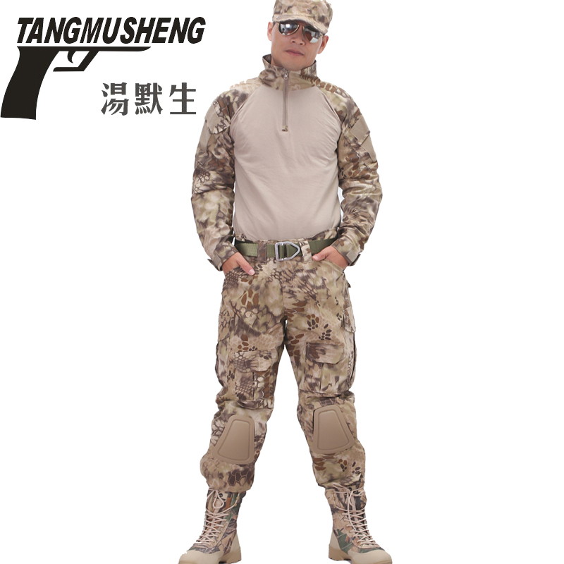 Men's Military Army Tactical Airsoft Combat Uniform Paintball Hunting SWAT Clothes Suit Gen2 Shirt & Elbow Pad Pants & Knee Pads military uniform multicam army combat shirt uniform tactical pants with knee pads camouflage suit hunting clothes