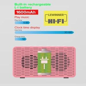Image 2 - Haut parleur Bluetooth colonne haut parleurs sans fil portables basse Subwoofer stéréo avec mains libres TF carte AUX lecteur MP3 réveil