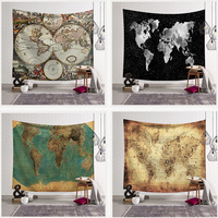 World Map Indian Tapestry Hippie Wall Hanging Tapestries Boho Bedspread Beach Towel Yoga Mat Blanket Table Cloth