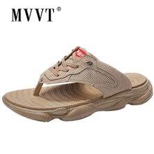 цена на 2019 New Summer Men Flip Flops Beach Sandals Hollow Slippers Men Light Sandalias Outdoor Summer Chanclas