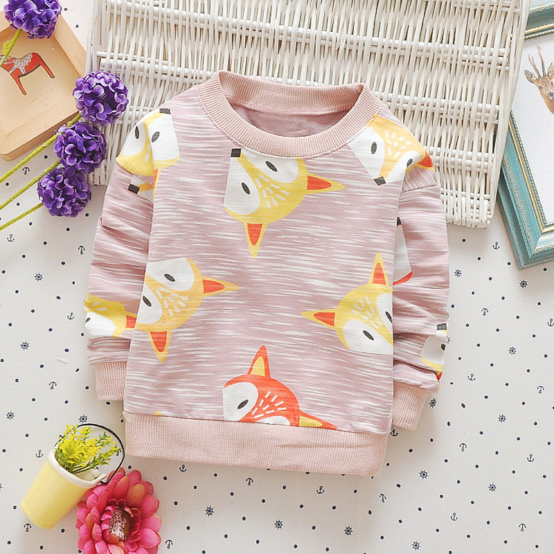 Casual-Autumn-Baby-Babi-Children-Girls-Boys-Infants-Printed-Cartoon-Fox-Cotton-Long-Sleeve-T-shirt-Tops-Tee-Clothes-S5571-1