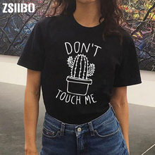 0be525ee1c5fb NICHT TOUGH MICH Kaktus T hemd Frauen Casual Sommer T-shirts Femme tops    tees Vintage Schwarz Weiß T-shirt Frauen
