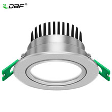 [DBF] Perak Housing Frosted Len LED Recessed Downlight Lebih Cerah Epistar COB LED Plafon Spot Lamp 5W 7W W 10W 12W dengan Transformer(China)