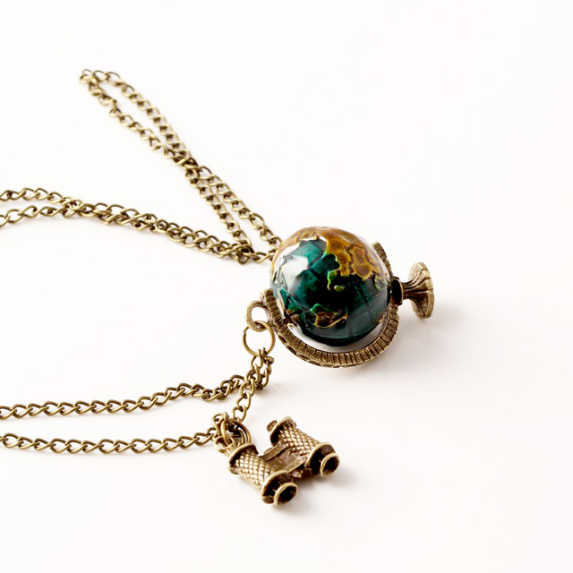 Vintage Globe Telescope Ball necklaces & pendants