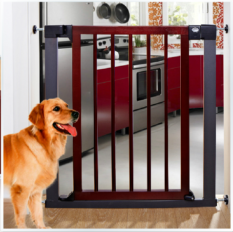 75~82cm High quality quiet solid wood baby gate stair fence pet dog fence dog doors and windows