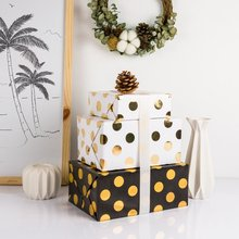 70X200CM Gold Point Shiny Christmas Gift Packing Paper Flower Wrapping Paper DIY Crafts Supplies Christmas Decoration for Home
