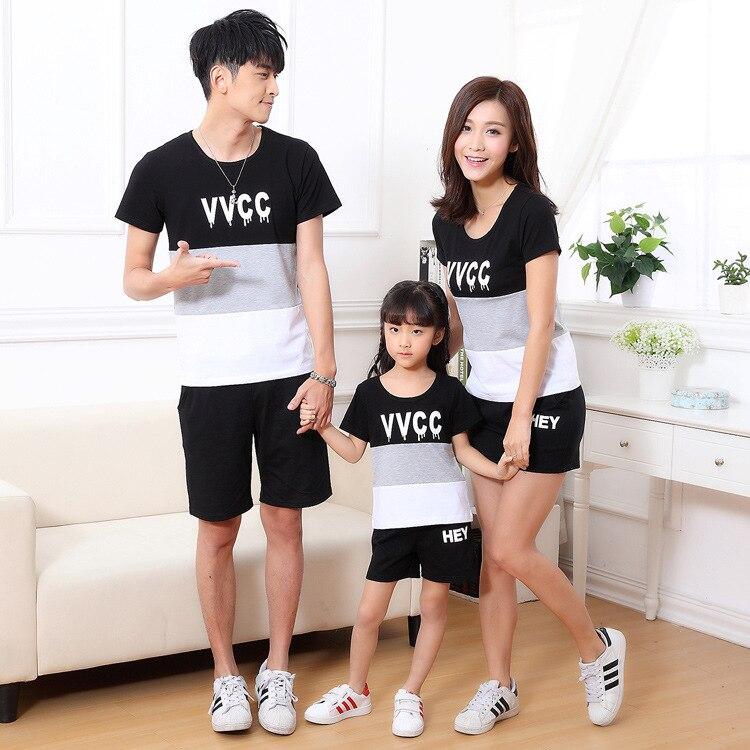 2018 summer kids clothing T shirt Korean whole family ...