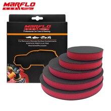Marflo Wasstraat Magic Clay Bar Pad Mitt Spons Polijsten Pad Voor Auto Care Wax Applicator Auto Verf Reparatie Auto huid