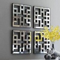 Зеркальные Настенный декор Лепнина квадратное зеркало оформлена стены искусства D F1308