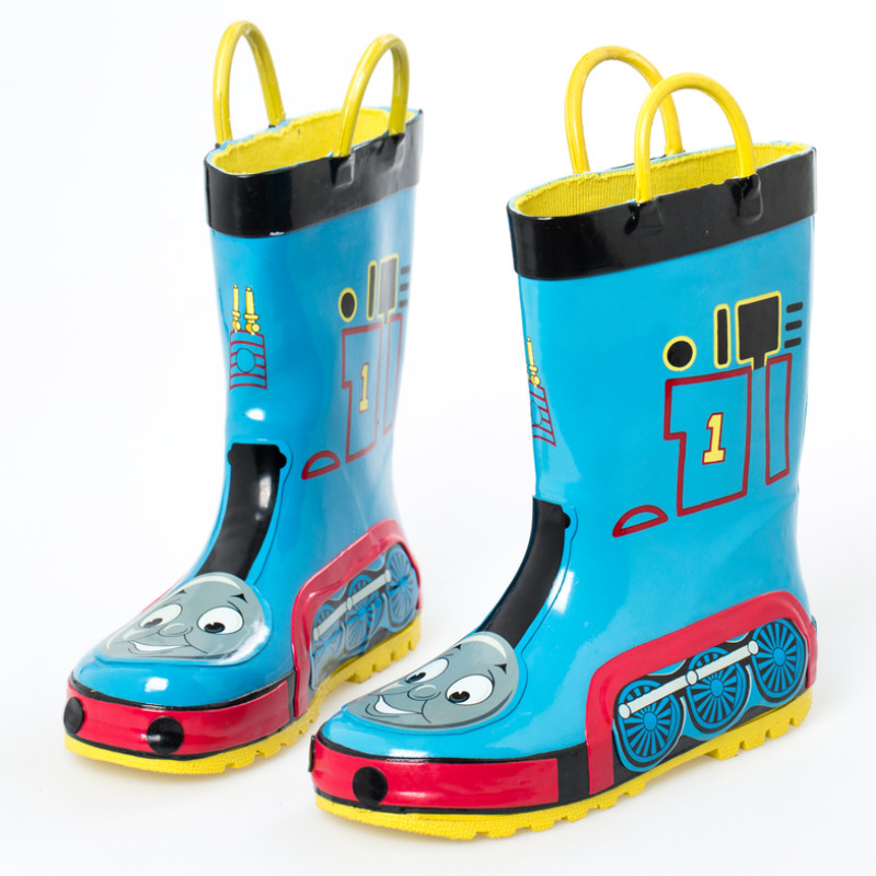 Thomas And Friends Toddler Boys Blue Rubber Rain Boots Teenage Children Boy Waterproof Rainboots TheTank Engine Shoes Drop Ship