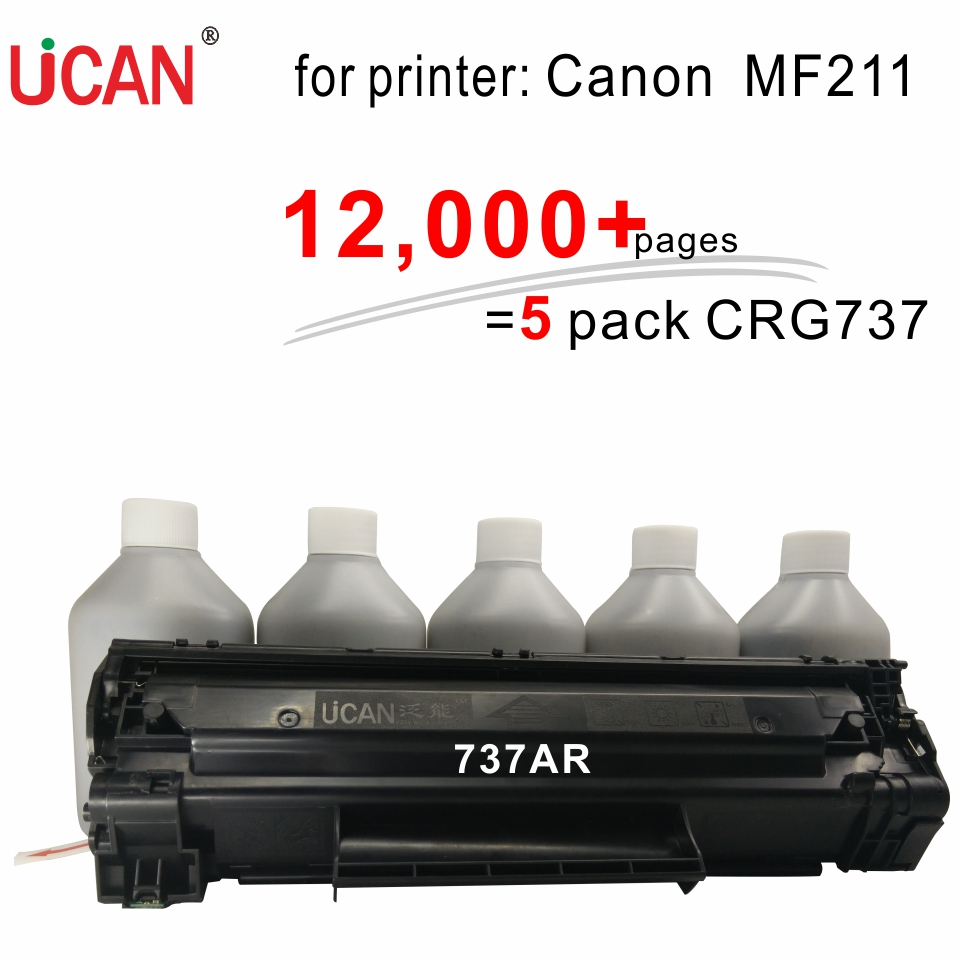 for Canon MF211 Printer Cartridge 737 317  UCAN 737AR(kit) 12,000 pages cs 7553xu toner laserjet printer laser cartridge for hp q7553x q5949x q7553 q5949 q 7553x 7553 5949x 5949 53x 49x bk 7k pages