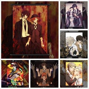 Bungou Stray Dogs Dazai Chuuya Atsushi Anime manga wall Poster Scroll B недорого