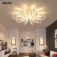 Led plafonnier salon moderne éclairage Plafond lampe lumière avec télécommande chambre Restaurant salle de bain maison luminaire Der