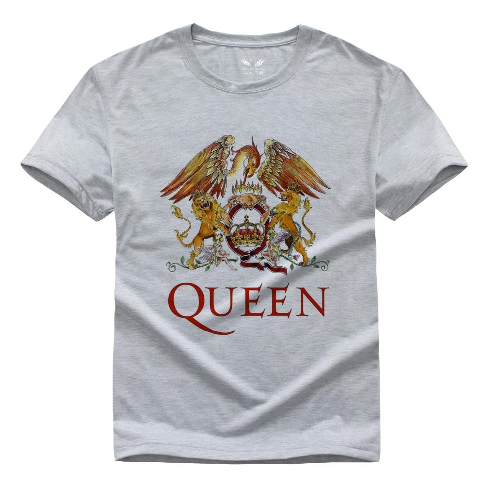 Classic rock band queen t shirt men cool printed t shirt for Band t shirts for men