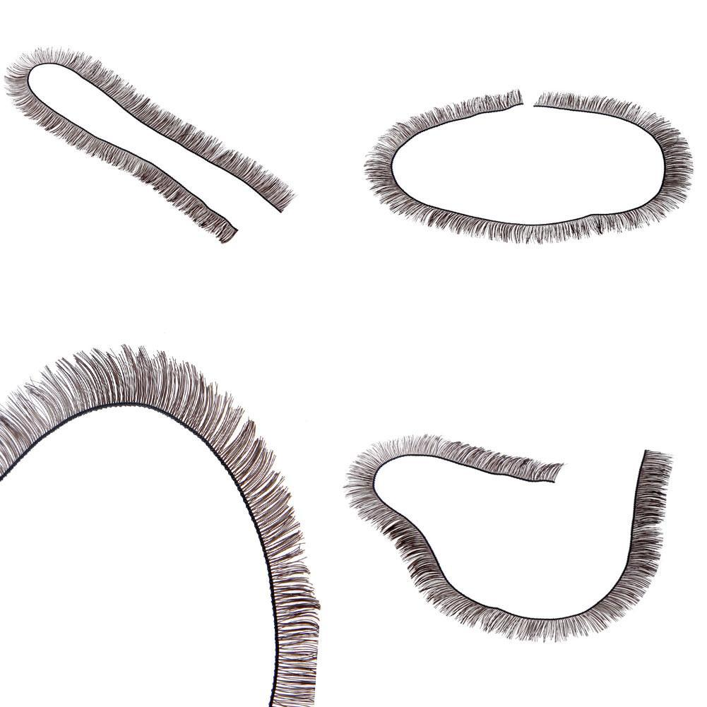 5pcs/Lot 8mm Width *20cm Length Eyelashes For <font><b>1/3</b></font> <font><b>1/4</b></font> For <font><b>BJD</b></font> Doll Reborn Doll Accessory Make Up Eye Line Strips Baby Dolls image
