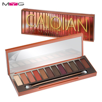 MYG Shimmer Matte Nude eyeshadow Palette 12 Colors Long Lasting Warm Pigmented Eye Shadow Make Up Powder Cosmetic Smokey Eyes