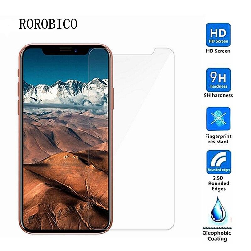 ROROBICO 2 pièces En Verre Trempé Pour iPhone 5 5 S 5C SE 6 6 S 7 8 Plus X XS MAX XR Écran Protecteur Film Pour Apple iPod Touch 5 6