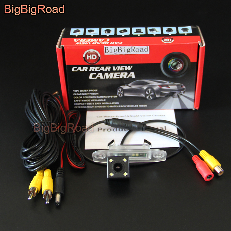 BigBigRoad Car Rear View Backup Parking CCD Camera Night Vision Waterproof For Volvo S40 S60 S80 XC90 XC60 V60 S80L S60L S40L