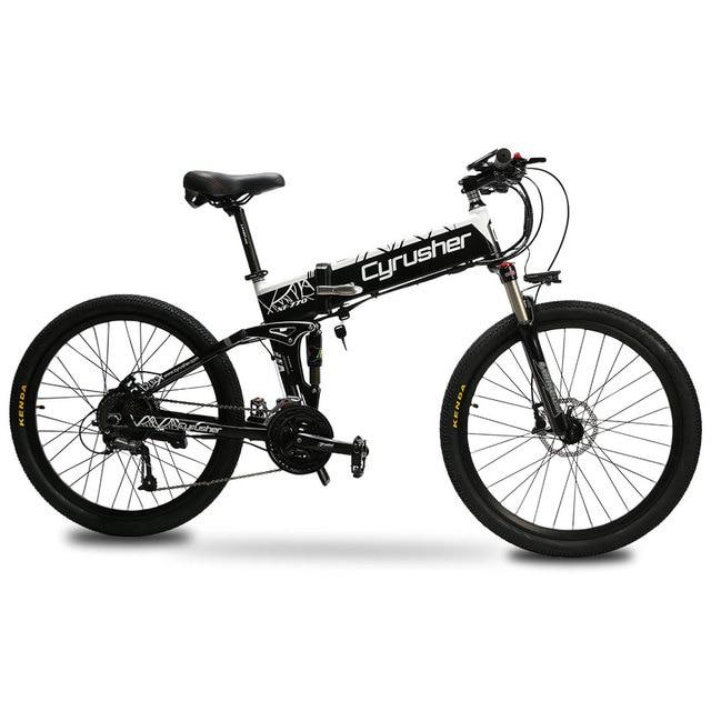 Cyrusher XF770 48 в 500 Вт электронный складной велосипед 26*1,95 спиц шины алюминиевый сплав рама электрический велосипед с умным ЖК-дисплеем