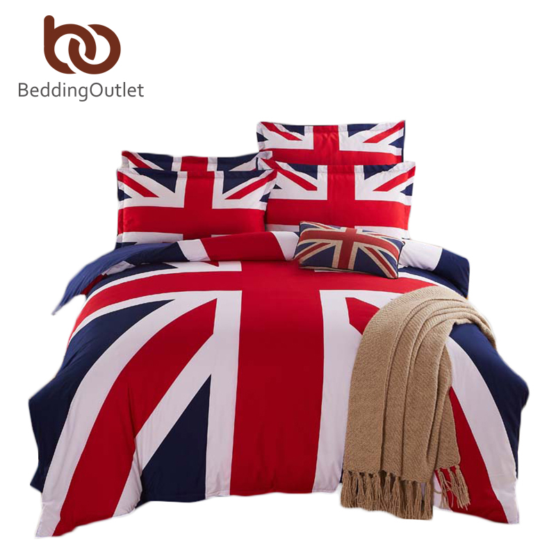 The new listing bedding british flag home textiles fashion for Lit queen size