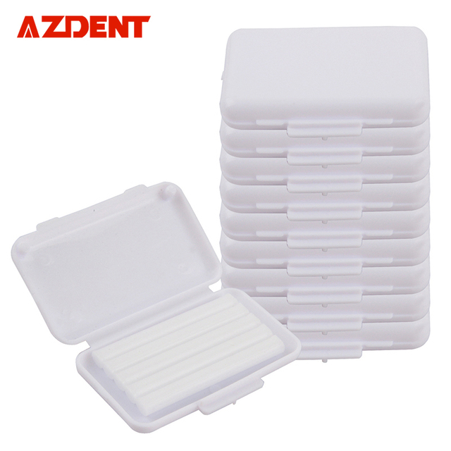 Top selling 10 pc/Pack  White Original Scent  Oral hygiene Dental Ortho Wax  For Braces gum irritation