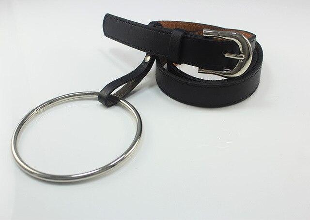 Round Metal Circle Designer Belts for Women New Fashion