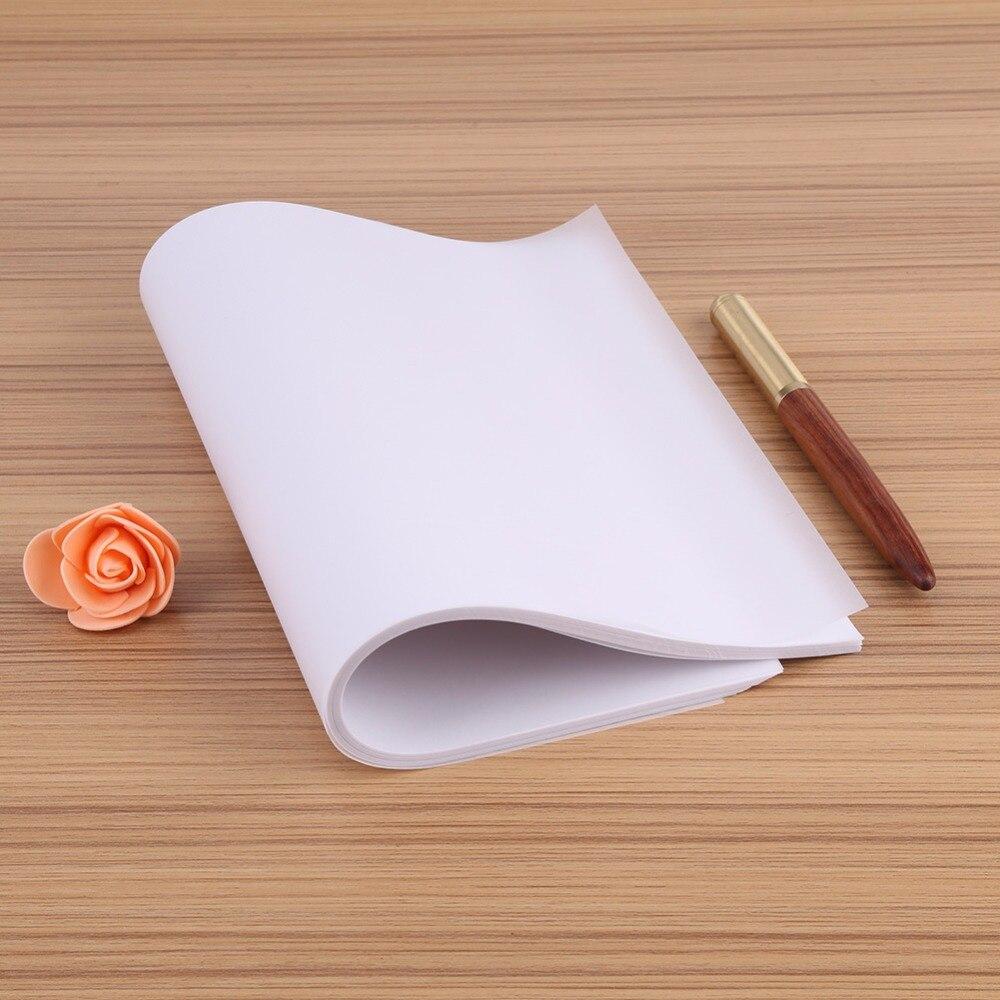 100шт А4 полупрозрачная калька копия трансферная печать бумага для рисования серной кислоты бумаги для технических чертежей / печать