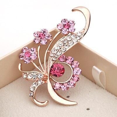 1695000434c02 US $3.5 |MZC 2019 Enamel Pins Elegant Flower Rhinestone Brooches High Grade  Lovely Crystal Broch Costume Brooch Fashion Women Jewelry-in Brooches from  ...