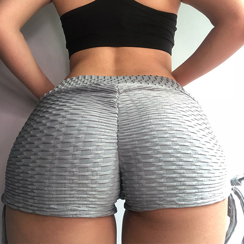 DUCTJOE Fashion Shorts With High Waist Casual Solid Shorts Fitness Sexy Hips Push Up Workout Shorts Women Scrunch Butt Shorts in Shorts from Women 39 s Clothing