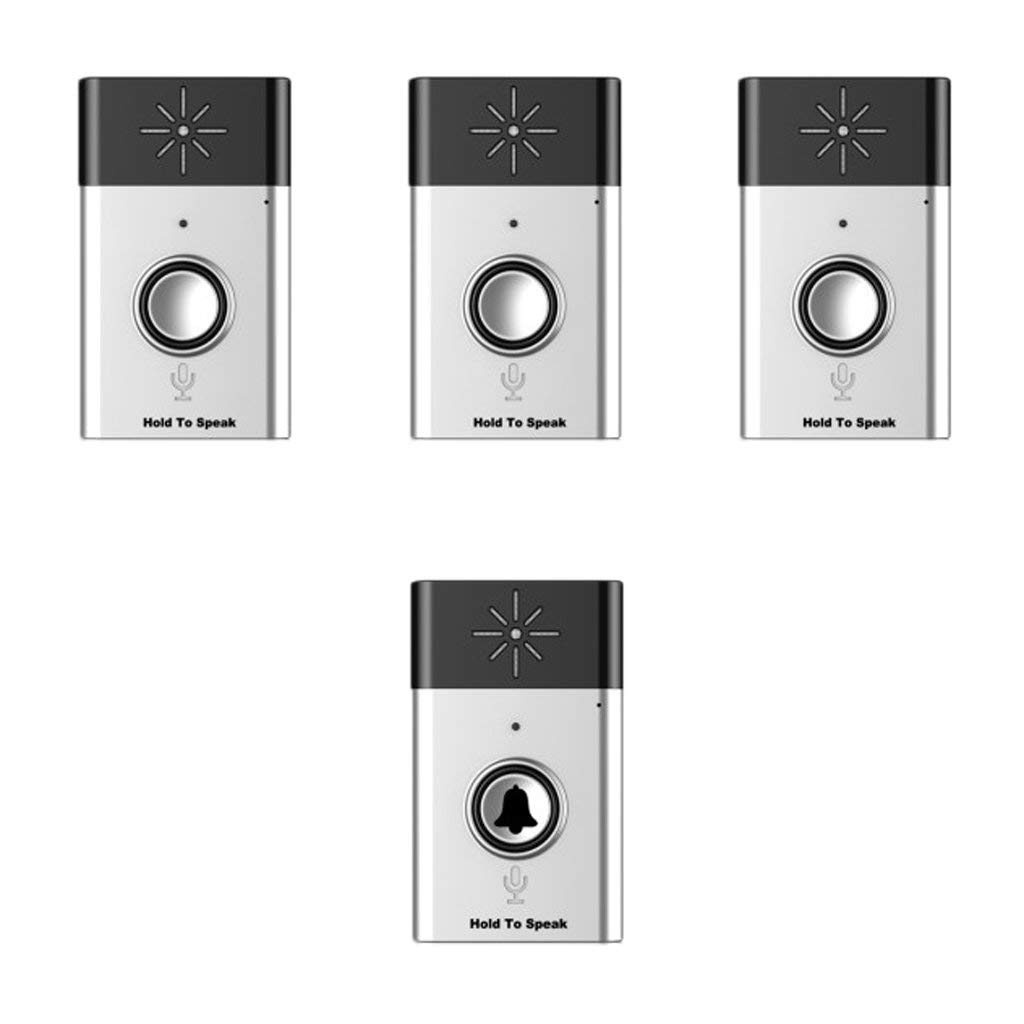 149 * 146 * 34mm Wireless Home Doorbell Intercom Voice Transmitter Doorbell 1 Transmitter + 1/2/3 Receiver 200m - 3x Receiver цена