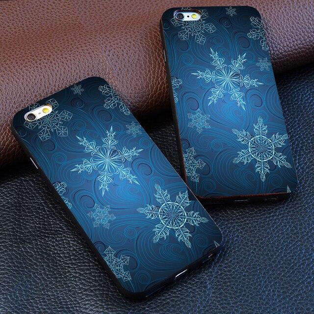 Fiocchi Di Neve Astrazione Sfondo Blu Freddo Per Il Iphone 4 5 5 S 6 S