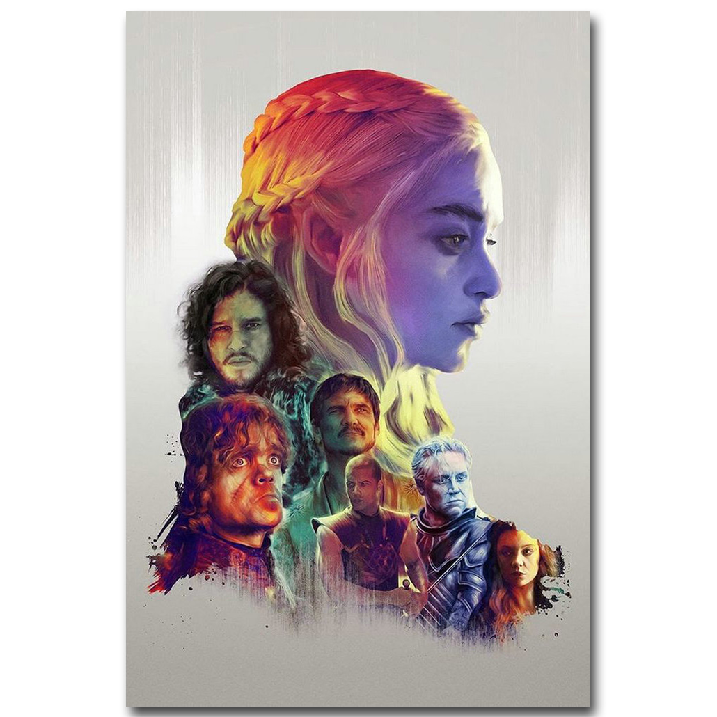 Game Of Game of Thrones Art Silk Fabric Poster Print 13x20 inch TV Series Jon Snow Daenerys Stormborn Picture for Wall Decor 07