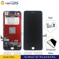 100 Tested LCD Touch Screen Digitizer Assembly With Frame For IPhone 7 7 Plus Lcd For