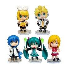 Japón Hatsune miku figura muñeca de anime juguetes de PVC figuras de acción juguetes para niños pasatiempos juguetes regalos de cumpleaños de Navidad al por mayor