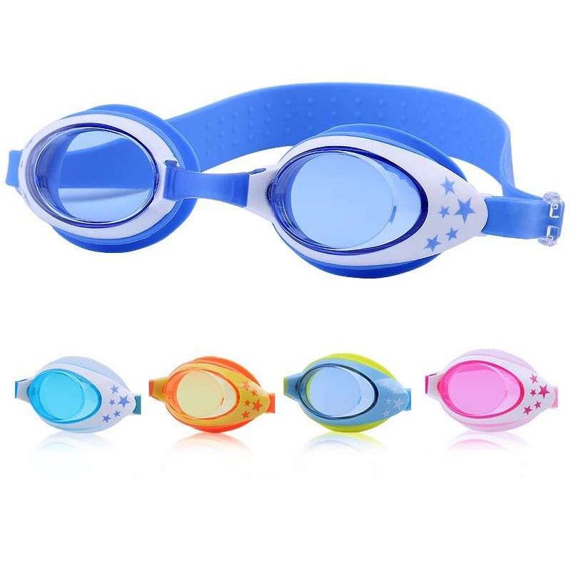 Детски чаши за плуване Анти-мъгла UV детски звезди Спортни плувни очила Силиконова арена вода чаши Водоустойчиви плувни очила