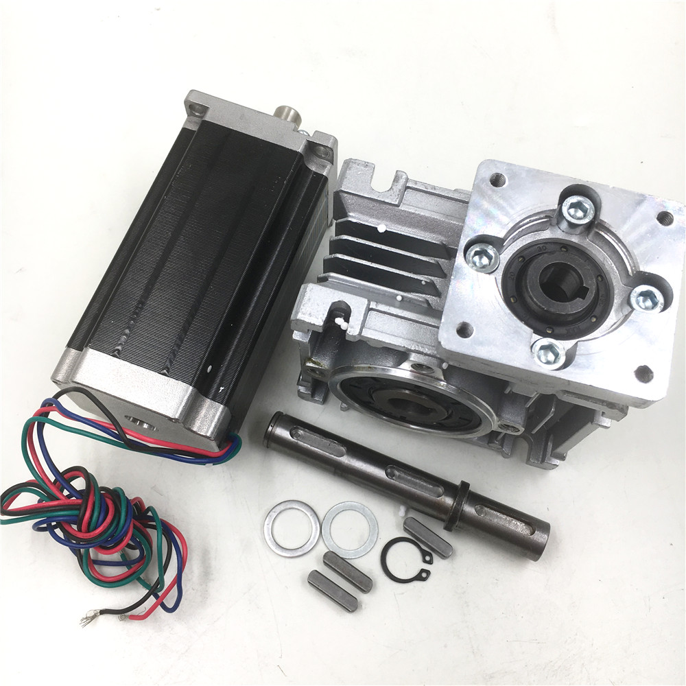 Ratio 50:1 Geared Stepper Motor Nema23 L112mm 4.2A 1.8degree Gearbox Speed Reducer CNC Router Kit planetary nema23 geared stepper motor l112mm gearbox ratio 30 1 90nm stepper speed reducer cnc router engraver