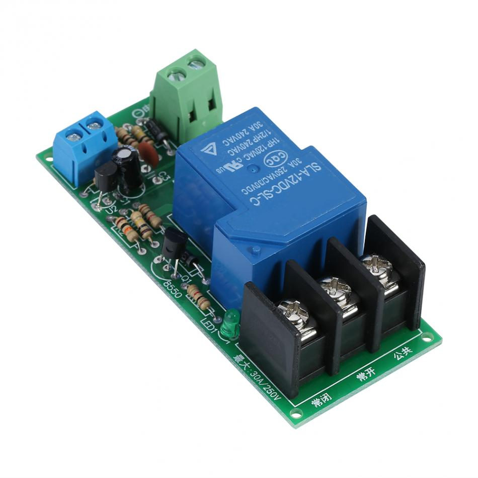 DC12V Delay Timer Switch Timing on/off Relay Module 0~60minutes 30A Load 250VAC/30VDC Adjustable Timer Module dc 12v multifunction delay timing on off relay module 30a switch timer 1s 1 hour