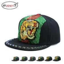 Punk Snapback Caps Topi Baseball Pria flat Dad Hats Women Baseball Cap  embroidery rivet Mens Caps 77a23798eb