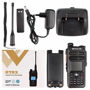 Image 5 - Dual Band DMR Retevis RT82 GPS Digital Radio Walkie Talkie 5W VHF UHF DMR IP67 Waterproof Ham Amateur Radio Transceiver+Cable