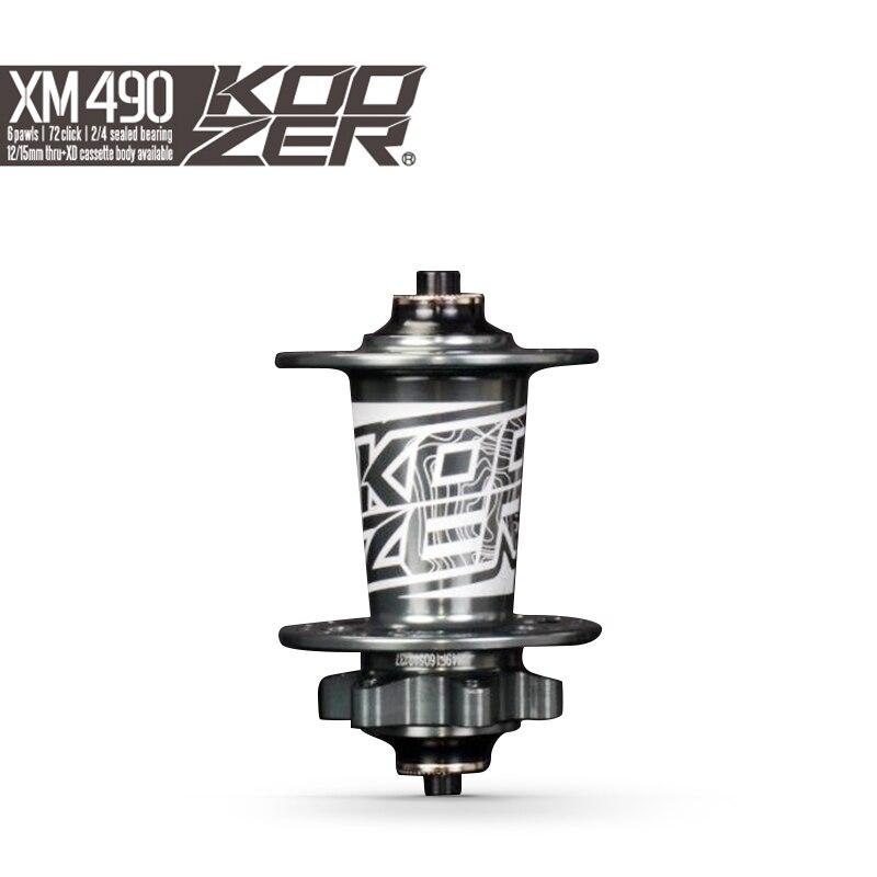Koozer XM490 спереди Hub MTB дисковые тормоза спереди концентраторы QR 9x100 мм через 15x100 мм 32 отверстия 2 Герметичный Подшипник Горный велосипед концен...