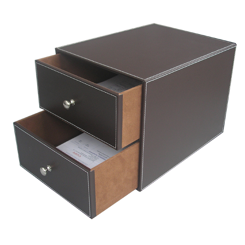 2 Drawers Leather Desk File Cabinet Organizer Holder File Document Storage  Box A288 In Storage Drawers From Home U0026 Garden On Aliexpress.com | Alibaba  Group