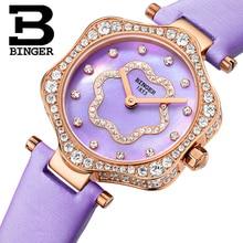 2017 Switzerland BINGER Women Watches Luxury Brand Quartz Waterproof Watch Woman Sapphire Wristwatches relogio feminino B1150-8